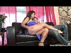 American milf Anita Cannibal unloads a cock in her mouth