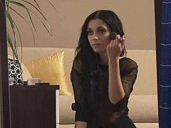 Ritta Gives a Blowjob and Gets Cum On Her Ass