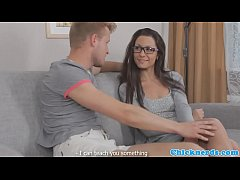 Spex teen doggystyle fucked by her teacher