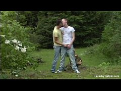 Forest Hump Two Naughty Twinks Outdoors Fuck