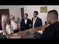 Judgement Day - Sexy Lawyer Negotiates Double P...