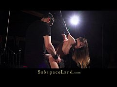Small tits sub girl bondage punishment fuck for pussy domination