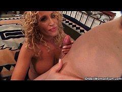 Hot milf gets facial