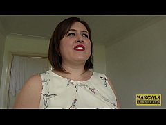 Chubby UK submissive disciplined in rough sex game