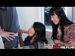 Asian threesome fuck with sexy Cindy and Marica