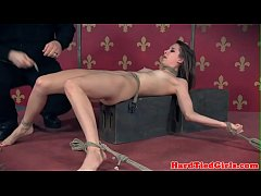 Bound bdsm sub whipped by maledom
