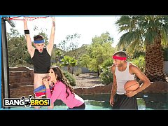 BANGBROS - Juan El Caballo Loco Tag Teams His Stepmom Makayla Coxxx