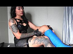 young domina shows her hard side