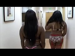 Two healthy black women Luxury Amore and Sexxx Kitten came to the casting in the porn club
