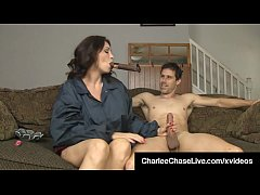 brunette milf charlee chase smokes cigar and bangs a big dick