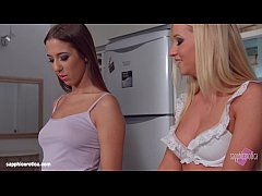 My kitchen love by Sapphic Erotica - lesbian love porn with Kiara Lord - Suzie C