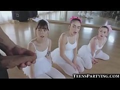3 teeny ballerinas share huge facial