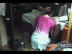 0016 Servicing her husband on her knees