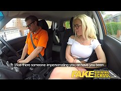 Fake Driving School Stunning blonde gets deep i...