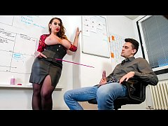 BUMS BUERO - Huge boobed MILF Nina Vegas boss fucked in office