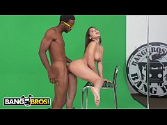 BANGBROS - Abella Danger Struggles To Act Then Takes A Big Black Dick