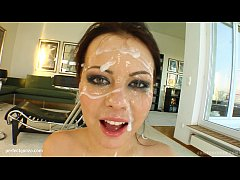 Veronika in bukkake blowjob blowbang scene from Cum For Cover