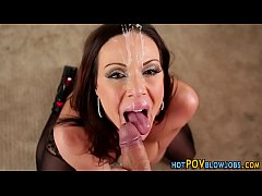 Milf gets pov cum facial