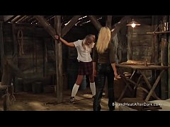 Slaves Homecoming: Slave Training For Blonde Girl In Chains