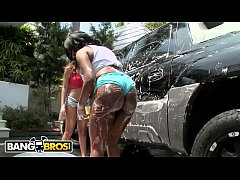 BANGBROS - A Couple Of Fine Ass Big Booty Hoes Washing A Car!