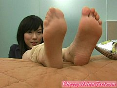 Cherry AsianFeet - Model nice shoes