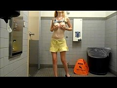 submissiveplz in public bathroom