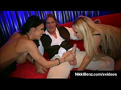 Busty Babes Nikki Benz & Jessica Jaymes Share Some Dick!