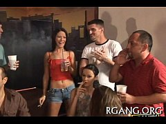 Gang bang with sexy beauties