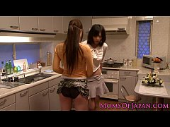 Japanese lesbian housewives licking pussy