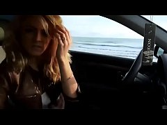 Sexy blonde masturbates in car outdoor - watch live at www.foxycams.online