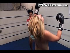 Sexy Female Boxing, black girl vs white girl