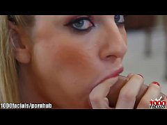 1000Facials Tattooed girls gorgeous face with jizz