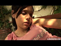 Teen Miho gets fucked outdoors