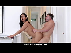 Big Tits Big Ass Latina MILF Step Mom Rose Monroe Has Sex With Step Son While His Dad Is Locked In The Bathroom