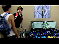 Twink duo bareback and blowjob