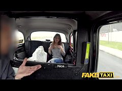 Fake Taxi Hard fucking rocks taxi cab with tight pussy petite French babe