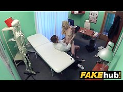 HD Fake Hospital Fit blonde sucks cock so doctor gives her bigger boobs