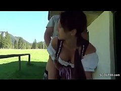 German Bavarian Teen Seduce to Fuck Outdoor like Heidi