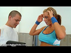 Busty Blonde Gets A Hardcore Workout!