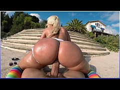 BANGBROS - Big Booty Blondie Fesser Riding Nick Moreno's Fat Cock In Europe