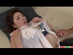 Mirei Yokoyama starts with blowjob and ends fucked hard - More at Japanesemamas com