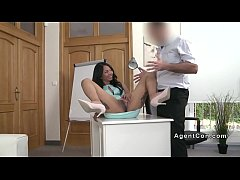 Fake agent bangs inked Asian babe