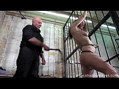Female prisoner whipping and harsh bondage punishments of amateur bdsm slave Bea