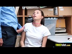 Cute brunette thief punish fucked hard by a nasty cop