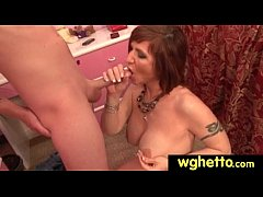 Ghetto whores try white cock 28