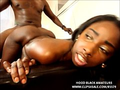 BLACK TEEN GETS HER FIRST BIG BLACK DICK ON FILM