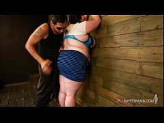 BBW Eliza Allure Loves Tits Slapped and F ...