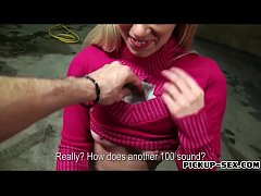 Nasty Eurobabe Ellen flashes tits and banged fo...