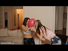 Cute Teen Gina Gerson and Hot Spanish Jimena Lago threesome