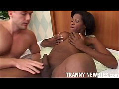 My big black tranny cock is going to tear your white ass up